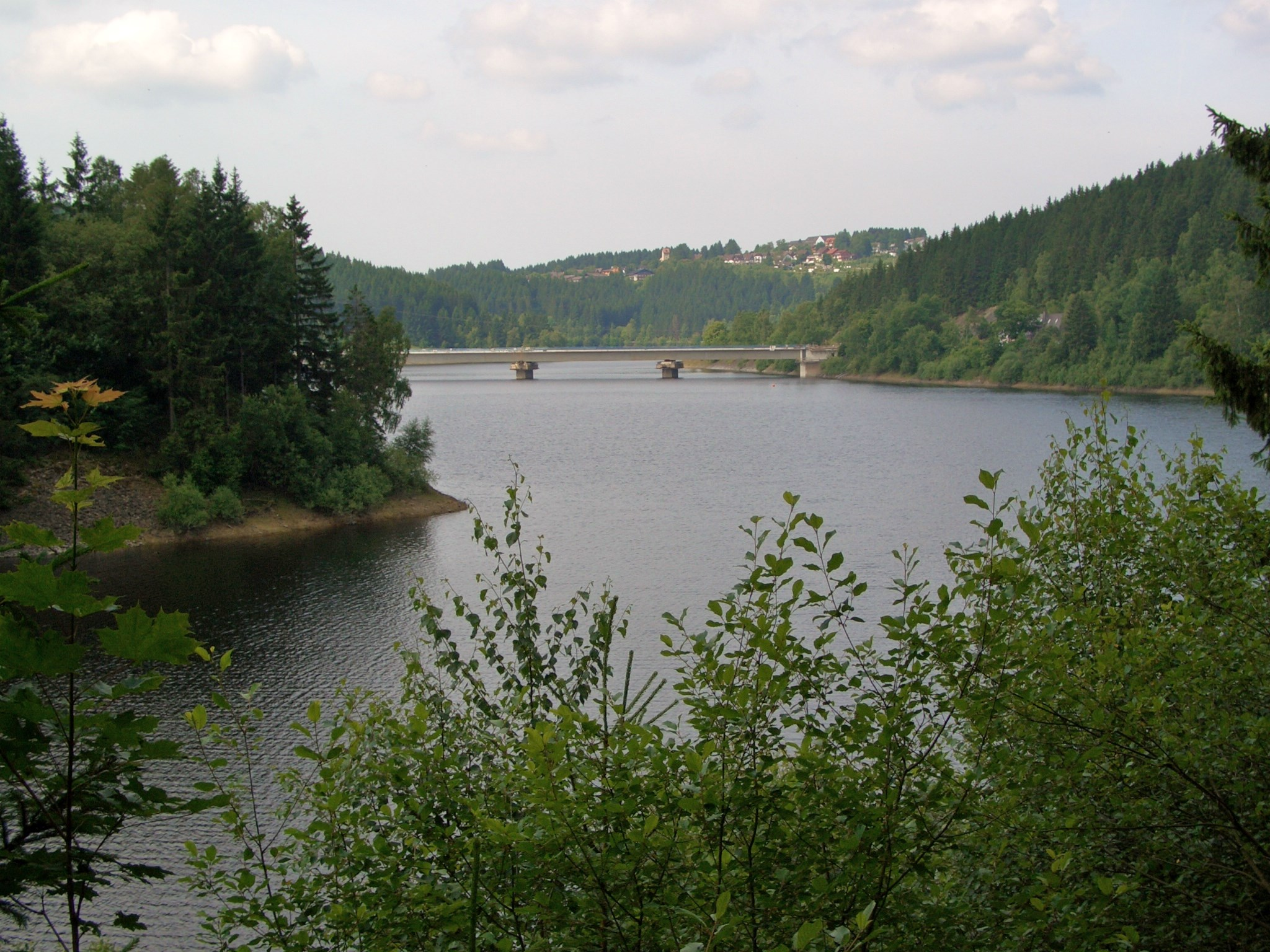 Okerstausee mit Weißenbachbrücke