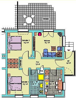 3-Zi.-Wohnung
